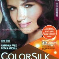 Revlon Colorsilk Hair 34 deep burgundy Cat Rambut Ungu Tua Pewarna