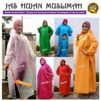 Jual Jas Hujan Muslimah Gamis Polos/Mantel Gamis Muslimah Murah