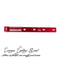 Rep Tamiya 95073 Setting Gauge / Pengukur Ketinggian Red (TL815)