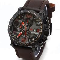 Jam Tangan Pria Quicksilver Crono Tali Kulit( AC,Rolex,GC,Expedition )