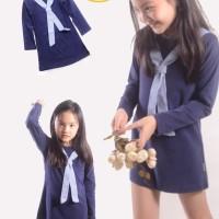 YHQ8101 Dress Dark Blue Tali Dada