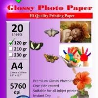Photo Paper Glosy 120 gsm SKy tipis