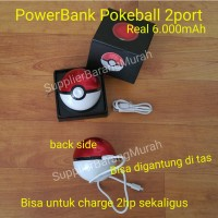 harga Powerbank Pokemon Pokeball 2 port USB 6.000mAh ( karakter avenger ) Tokopedia.com