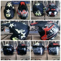 harga HELM CROSS DOUBLE VISOR MURAH Tokopedia.com