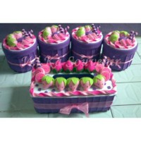 SET TOPLES STRAWBERRY PARTY TOPLES BAGUS