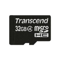 Transcend 32 GB Micro SDHC Card Class 4 + SD Adapter Card