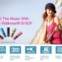 Sony Walkman NWZ-B183F 4GB (Black) Diskon