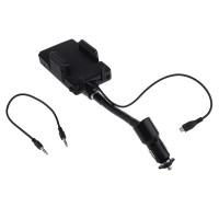 FM Transmitter With Holder And Car Charger Micro USB Fo Berkualitas