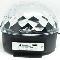 MP3 Player Crystal Magic Ball Sound Activated LED Disco Diskon