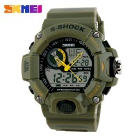 SKMEI S-Shock Men Sport LED Watch - AD1029 - Army Green