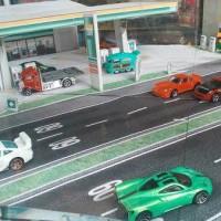Diorama Pom Bensin Brazil 1:64 Hot Wheels