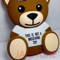 Case 3D Teddy Bear iPhone 5 / 5G / 5S / 5SE Karakter, Rubber, Moschino