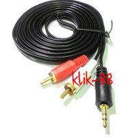 harga Kabel Aux 3.5mm Stereo To 2 Rca Male 3 Meter Gold Plate Hq Tokopedia.com
