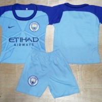 Setelan Kaos Baju Bola Bayi Anak Manchester City Home 16/17
