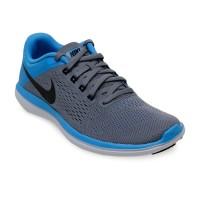 Nike Women's Flex 2016 RN Cool Grey-Black-Blue glow size EU 39