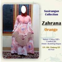 Gamis sasirangan orange / longdress batik zahrana orange