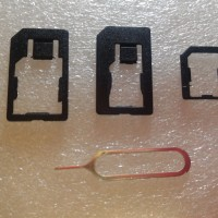 Iphone 4 in 1 Nano Micro Mini SIM Card Adapter Pin Ejector SIMCARD