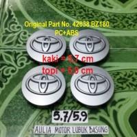 dop roda velg toyota silver diameter 5,7 untuk avanza rush lainnya 4pc