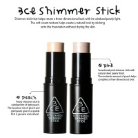 [READY STOCK] 3CE SHIMMER STICK HIGHLIGHTER #PEACH