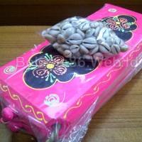 Congklak Papan Kayu Lipat 14 Lubang - Pink
