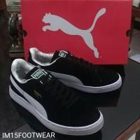 Sepatu Pria Puma Suede Classic Black White Skate Import Vietnam