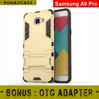 Samsung A9 PRO - IRON MAN Hard Case Armor Stand Holder Casing Cover