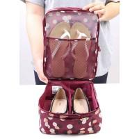 Jual Korea Monopoly Flower Travel Shoe pouch ver 2 / Shoe Bag organizer Murah