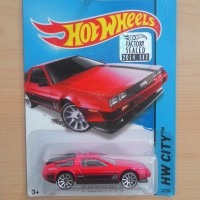 HOT WHEELS '81 DELOREAN DMC-12 RED FACTORY SEALED 2014 #33/250