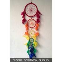 Jual Dreamcatcher - Dream Catcher Rainbow 17CM Susun Murah