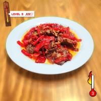 Jual Dendeng Balado Batokok (Cabe Merah) PEDAS LEVEL 3 - ASLI PADANG Murah