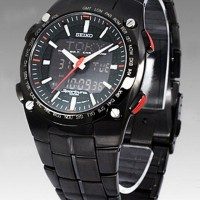 Seiko Sportura SNJ011P1 World Time Digital Analog | Jam Pria SNJ011