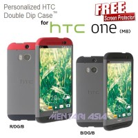 Case HTC One M8 : Double Dip Hardcase ( + FREE SP) Promo MK