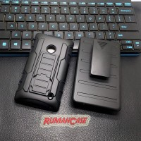 Nokia Lumia 520 - Future Armor Hard Case With Belt Clip Hols LarisJaya