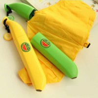 Jual payung lipat umbrella uv banana pisang mini bukan 3D Murah