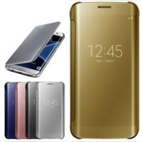Jual Casing Hp Cover Samsung S5 S6 S6 EDGE S7 S7 EDGE Flip Mirror Auto Lock Murah