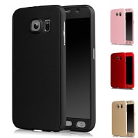 Casing Hp Cover Samsung S5 S6 S7 S7 EDGE 360 Case Free Tempered Glass