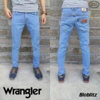 Jual Celana Jeans Slimfit WRANGLER | HItam | Bioblitz | Blueblack | Skinny Murah