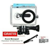 Aksesoris Xiaomi Yi (yicam) Waterproof + Monopod Bcare + Memori 16gb