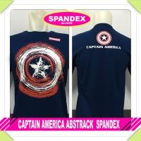 kaos baju pakaian superhero/avenger CAPTAIN AMERICA ABSTRACK spandex