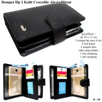 dompet wanita hpo alexia kulit crocodille 2hp max 5,8 inc hitam