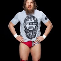 T SHIRT WWE DANIEL BRYAN RESPECT HE BEARD 0.2 - GREY High Quality