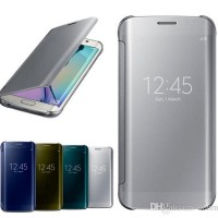 CASING SAMSUNG s6/S6 EDGE/S6 EDGE PLUS MIRROR FLIP COVER CASE AUTOLOCK