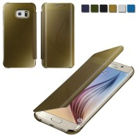 CASING SAMSUNG GALAXY S6 EDGE/S6 EDGE PLUS MIRROR FLIP COVER CASE BACK