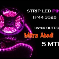 LED Strip SMD 3528 Pink/Merah Muda IP44 Waterproof DC 12V