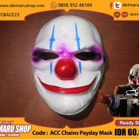 [ACC Chains Payday Mask] Topeng Film Game The Heist Perampok Dallas
