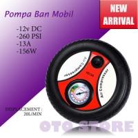 Pompa Ban (packing merah) Bentuk Ban Mobil Portabel 12V Air Compressor