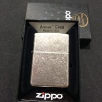 Original Zippo Antique Silver Armor 28973