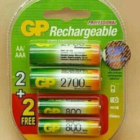 Jual Baterry GP Professional 2pcs AA + 2pcs AAA Rechargeable Pack Murah