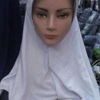 harga Jual jilbab putih anak sekolah ukuran L Tokopedia.com