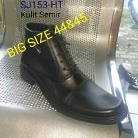 Sepatu BIG SIZE PDH SJ153-HT Sepatu Kulit Sapi -Hitam Pree-order BOS